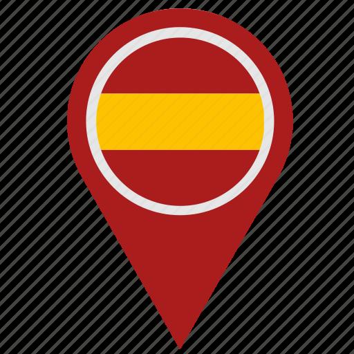country, espana, geo, location, pointer, spain icon