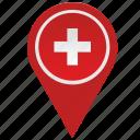country, geo, location, pointer, swiss, switzerland icon