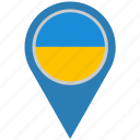 country, geo, location, pointer, ukraine icon