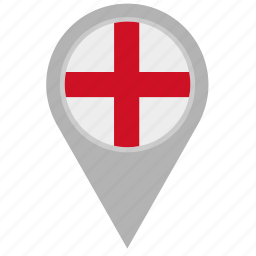 country, england, location, pointer icon