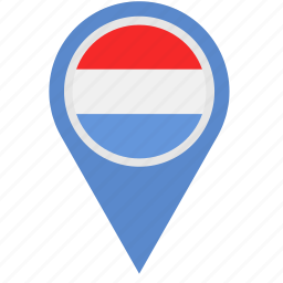 country, europe, european, flag, luxembourg, national, pointer icon