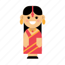 clothes, costume, culture, ethnic, indian, people, taditional icon