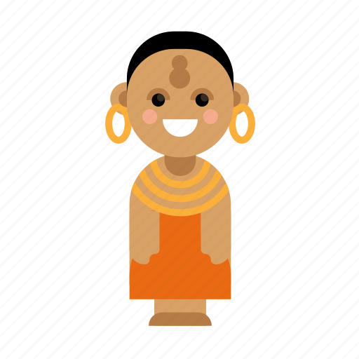 Africa, clothes, costume, culture, ethnic, people, taditional icon - Download on Iconfinder