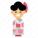 clothes, costume, culture, ethnic, japan, people, taditional icon