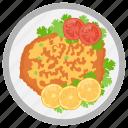 austrian dish, parsley, wiener schnitzel, lemon, wienerschnitzel icon