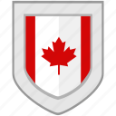 canada, flag, maple, shield icon