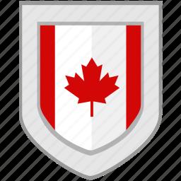 canada, flag, maple, shield icon