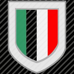 flag, italy, shield icon