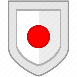 flag, japan, shield icon