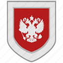 arms, eagle, emblem, flag, rf, russia, shield icon