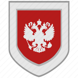 arms, eagle, emblem, flag, rf, russia, shield icon