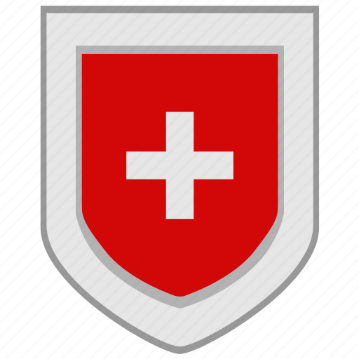 flag, shield, switzerland icon