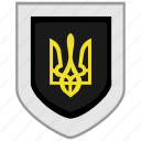 arms, emblem, flag, shield, ukraine icon