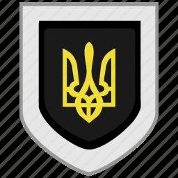 arms, emblem, flag, shield, ukraine icon