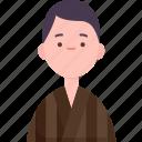 bhutanese, man, traditional, ethnic, asian