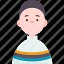 bolivian, peruvian, nationality, male, costume icon