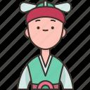 korean, man, asian, traditional, costume