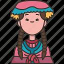 peruvian, peru, traditional, costume, woman