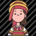 russian, folk, ethnic, traditional, costume