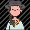 uruguayan, woman, traditional, dress, nationality