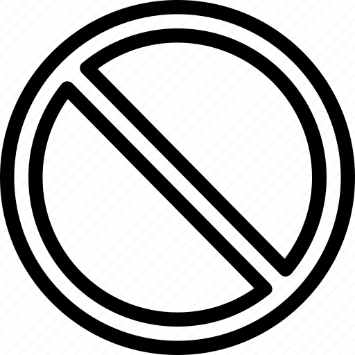contains no, does not contain, free, from, prohibited, stop icon