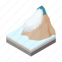 avalanche, cartoon, mountain, nature, outdoor, snow, winter icon