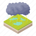 cartoon, cloud, lightning, rain, storm, thunderstorm, weather icon