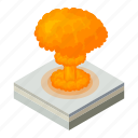 nuke, explosion, fire, nuclear, bomb, cartoon, cloud