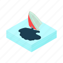 cartoon, environment, ocean, oil, sea, ship, spill icon