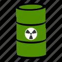 drum, radioactive, rdx, burn