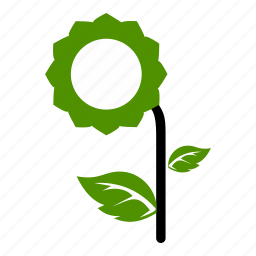 eco, file, flower, green, natural, sunflower icon