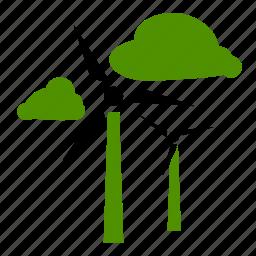 green, mill, natural, wind, windmill icon