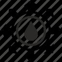 energy, fuel, label, oil, round icon