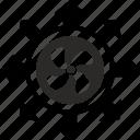 energy, label, power, round, wind icon