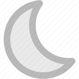 crescent, ecology, lunar, moon, nature, waning moon, weather icon