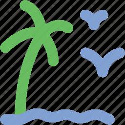 bird, garden, morning view, tree, tree and bird icon