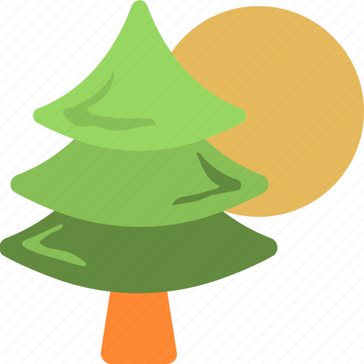 evergreen, fir tree, forest, pine tree, tree icon