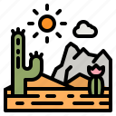 desert, scenery, sun, sand, landscape