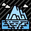 iceberg, ice, north, pole, melting