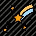 star, comet, universe, shooting, stars