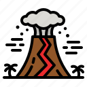 volcano, natural, disaster, eruption, lava