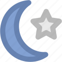 crescent, ecology, moon, moon star, nature, weather icon