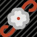blooming, decoration, decoration flower, floral, flower, flower pattern icon