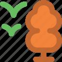 bird, forest, garden, tree, tree and bird icon