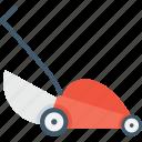 farm, gardening, lawn, lawn mower, mower icon