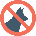 animal, dog, forbidden dog, no pets, pet icon
