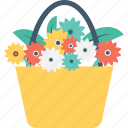 chrysanthemum, flower bucket, flowers, garden, sakura icon