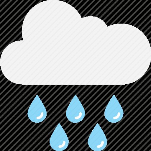 cloud, raindrops, raining, rainy weather, weather icon