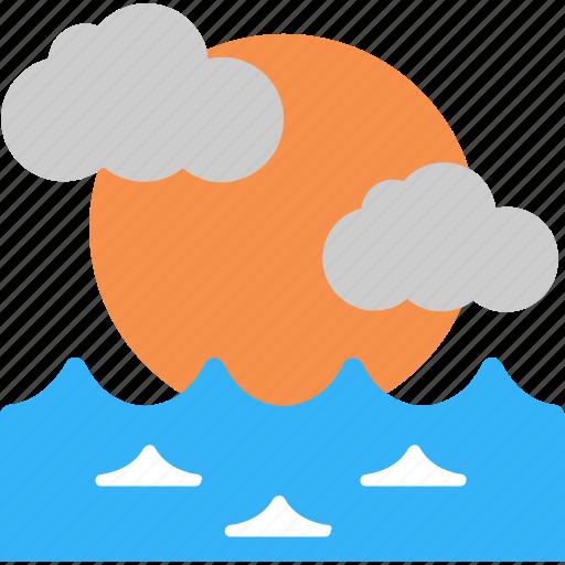 landscape, nature, sea, sun, sunrise icon