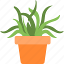 aloe vera, garden, plant, pot, succulent icon